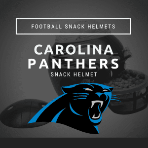 Carolina Panthers Football Snack Helmet